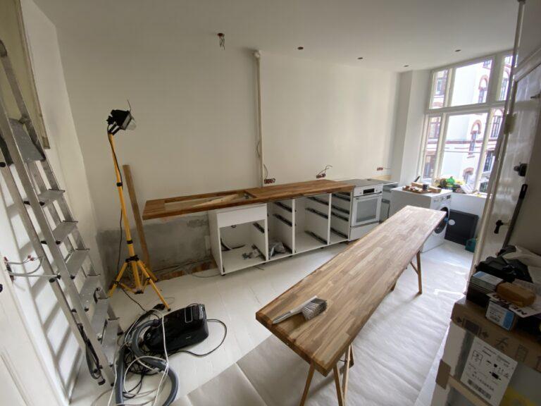 Byggeproces køkken